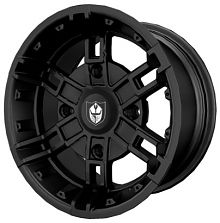 WHEEL-14X7 +4 BUCKLE CST FLBLK 1522544-458
